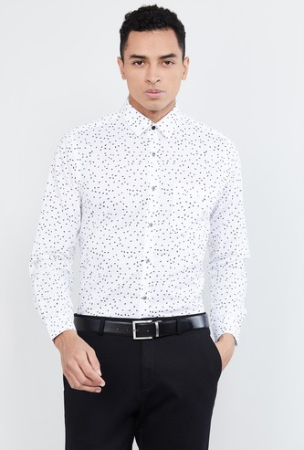 MAX Printed Full Sleeves Formal Shirt