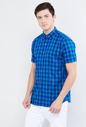 MAX Checked Short Sleeves Casual Shirt