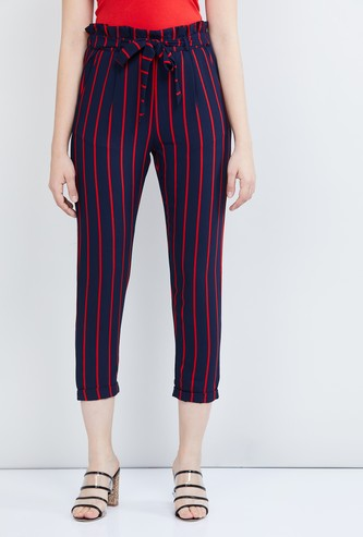 MAX Striped Culottes with Tie-Up