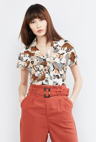 MAX Printed Lapel Collar Shirt