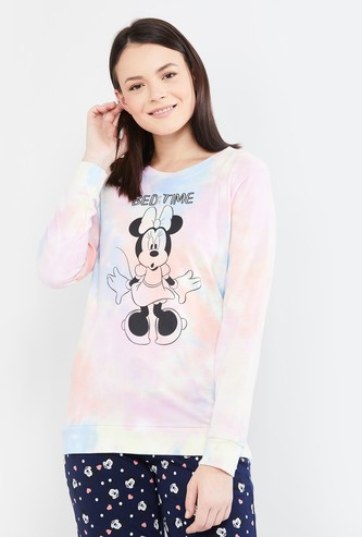 MAX Minnie Print Full Sleeves Sweatshirt