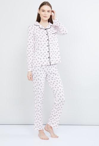 MAX Printed Lounge Shirt with Pyjama
