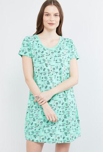 MAX Doodle Print Night Dress