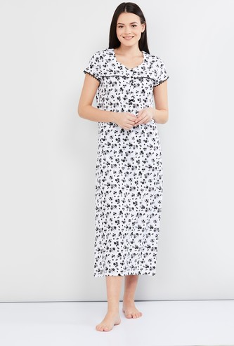 MAX Floral Print Night Gown