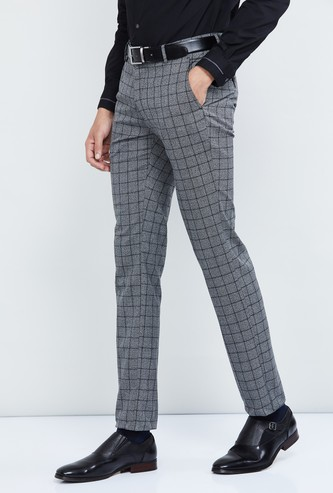 MAX Checked Ultra Slim Fit Formal Trousers