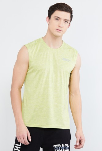 MAX Textured Sleeveless T-shirt