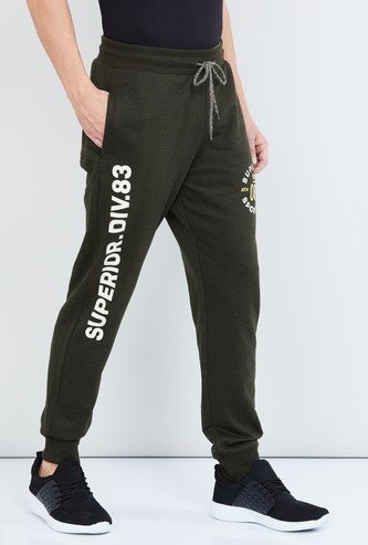 MAX Typographic Print Elasticated Joggers