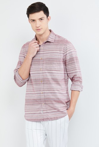 MAX Striped Slim Fit Casual Shirt