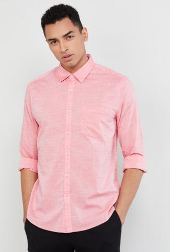 MAX Textured Regular Fit Casual Shirt