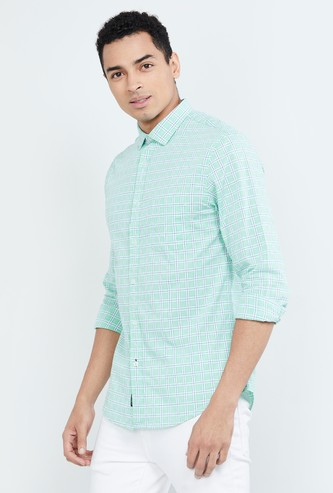 MAX Checked Regular Fit Full Sleeves Shirt