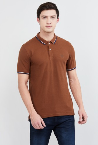 MAX Solid Polo T-shirt with Short Sleeves