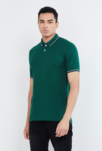 MAX Solid Polo T-shirt with Contrast Tipping