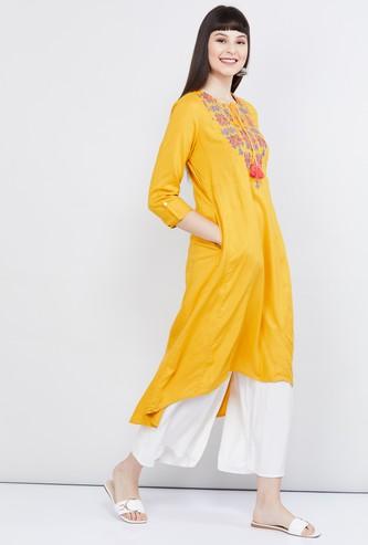 MAX Embroidered Asymmetric Kurta