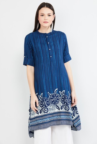 MAX Printed Kurta with Asymmetric Hem