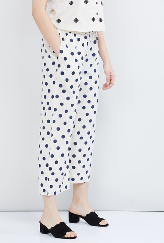 MAX Polka Dot Print Elasticated Palazzos