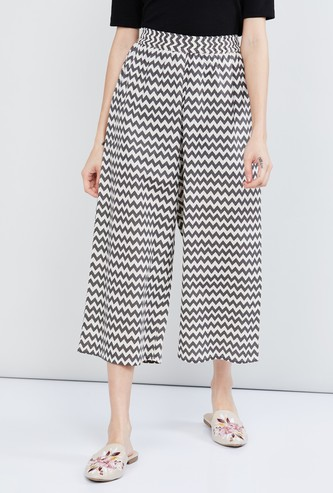 MAX Chevron Print Elasticated Palazzos