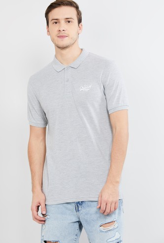 MAX Patch Printed Slim Fit Polo T-shirt