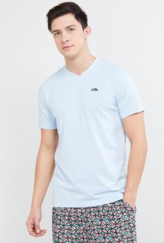 MAX Solid Regular Fit V-neck Lounge T-shirt