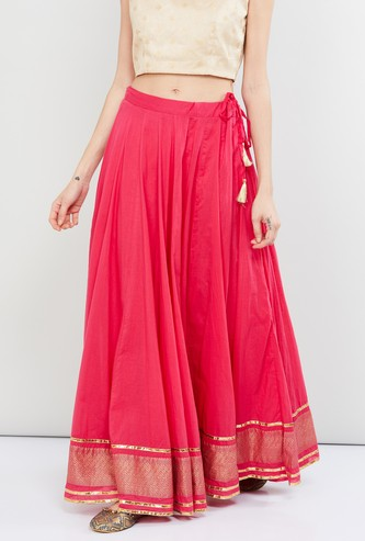 MAX Solid Maxi Skirt