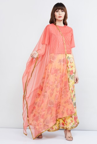 MAX Solid Dupatta with Border