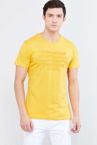 MAX Embossed Crew Neck T-shirt