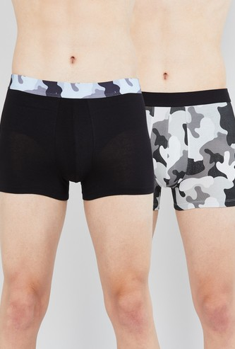 MAX Camouflage Print Elasticated Trunks