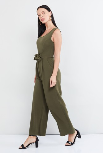 MAX Solid Jumpsuit with Belt