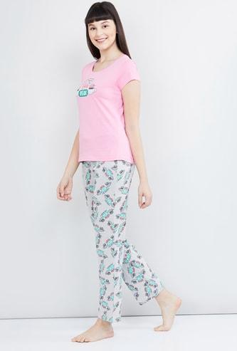 MAX Friends Printed Top with Pyjamas