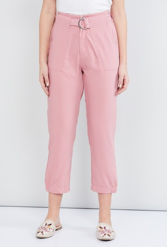 MAX Solid Elasticated Cropped Pants