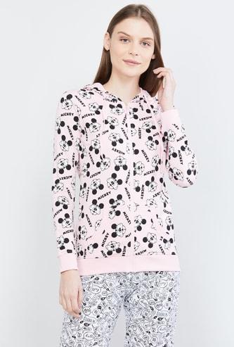 MAX Printed Hooded Lounge Sweatshirt