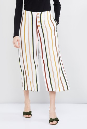 MAX Striped Cropped Palazzos