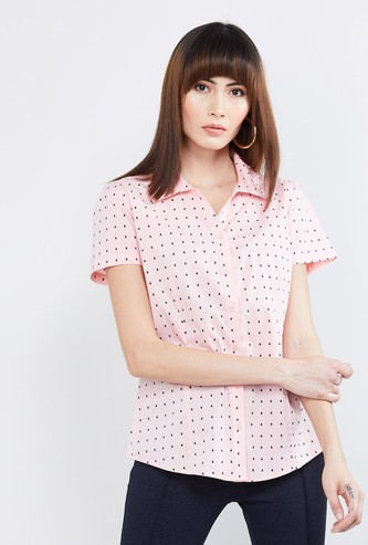 MAX Printed Half-Sleeves Shirt