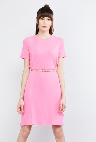 MAX Solid Dress with Belt