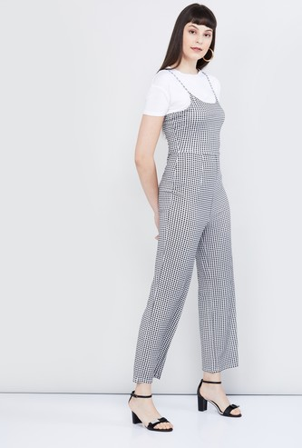 MAX Checked Jumpsuit with T-shirt Set
