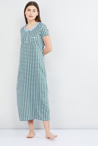 MAX Checked Night Gown