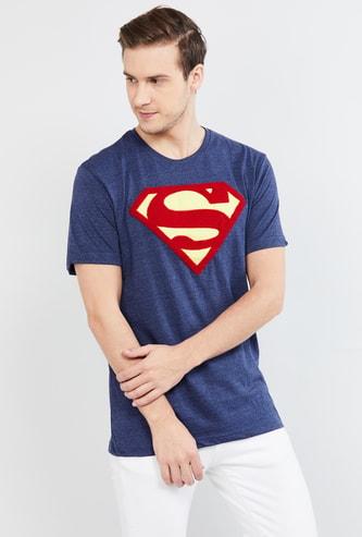 MAX Superman Print Slim Fit Crew Neck T-shirt