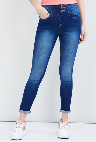 MAX Stonewashed Skinny Jeans