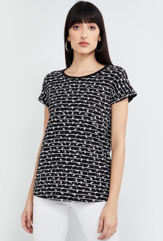 MAX Printed Cap Sleeves T-shirt