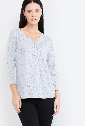 MAX Printed Knitted Top