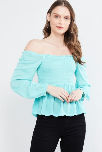 MAX Solid Off-Shoulder Top