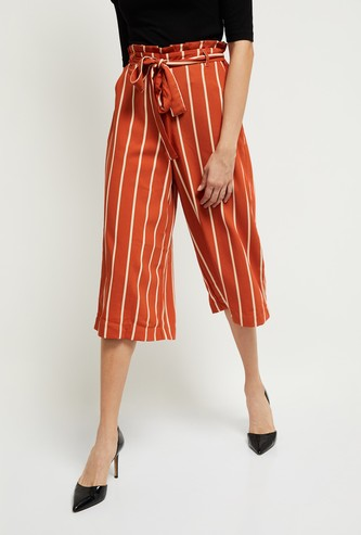 MAX Striped Culottes with Pockets