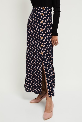 MAX Printed Eco Liva Maxi Skirt
