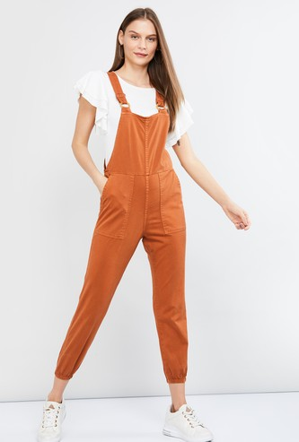 MAX Solid Cropped Dungaree