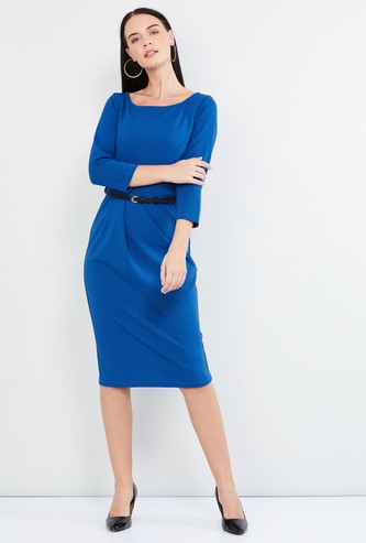 MAX Solid Sheath Dress