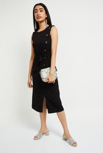 MAX Solid Midi Dress
