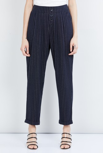 MAX Striped Woven Trousers