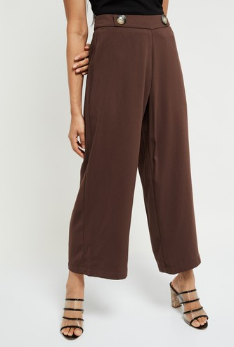 MAX Solid Culottes with Elasticated Waist