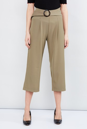 MAX Solid Culottes with Belt