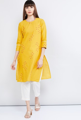 MAX Printed Round Neck Straight Kurta