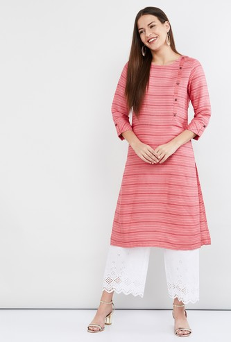 MAX Striped Straight Kurta